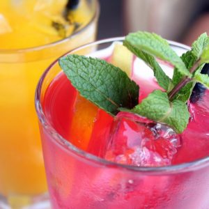 cocktail, fruit drink, mint
